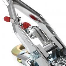 Лебёдка ручная рычажная (тросовая) 4т НР-147D 3 крюка в кейсе JUN KAUNG SKRAB 26447 механизм