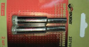 Коронка алмазная по керамограниту и мрамору 6 мм (2шт) SKRAB 33706