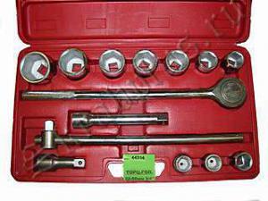 """Набор торцевых головок 22 - 50 мм 3/4"""" 14 шт для авто в чемодане (кейсе) SKRAB 44314"""