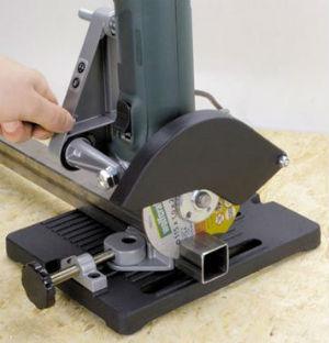 Ровный срез металлического швеллера при помощи стойки для УШМ 115/125мм MY6103 SKRAB 25525
