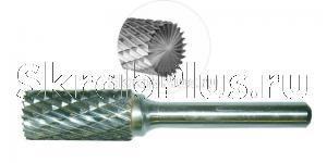 Борфреза 12 мм цилиндрическая с торцевыми зубьями по металлу B1225M06 CrMo сталь SKRAB 37118