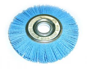 Корщетка-колесо 150 мм нейлоновая дисковая для УШМ (болгарки) оксид циркония (ZrO2) ПРОФИ SKRAB 35479