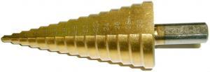 Сверло ступенчатое по металлу 4-32 мм 15 ступеней (4-6-8-10-12-14-16-18-20-22-24-26-28-30-32 мм) HSS TIN SKRAB 30163