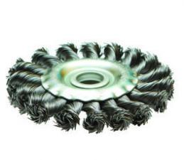 Корщетка-колесо 125х22мм витая (дисковая) для УШМ (болгарки) SKRAB 35421 купить оптом и в розницу в СПб