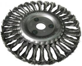Корщетка-колесо 125х22мм витая (дисковая) для УШМ (болгарки) USPEX 39103U