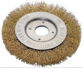 Корщетка-колесо 125х22мм (дисковая) латунированная (гофрированная) для УШМ (болгарки) USPEX 39065U
