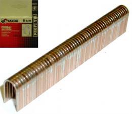 Скобы для степлера полукруглые 6 мм омедненные оцинкованные (1000 шт) SKRAB 35241