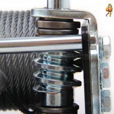 Лебедка ручная барабанная червячная 900 кг трос 6 м JUN KAUNG W06-920A SKRAB 26436 - червячный механизм