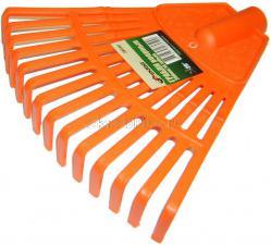 Грабли пластиковые веерные 14 зубьев 200 мм без черенка SKRAB 28050