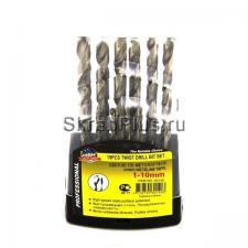 Набор сверл по металлу 19 шт. 1,0 - 10,0 мм ц/х HSS Р6М5 SKRAB 30140 DIN 338 (ГОСТ 10902-77) купить на официальном сайте