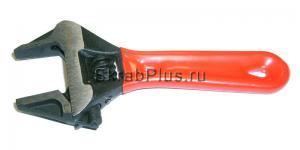 Ключ разводной с тонкими губками 140 мм 0-34 мм CrV короткий RED SKRAB 23526 купить оптом в СПб