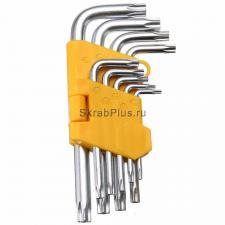 Набор Г-образных ключей TORX 9 шт. Т10-Т50 CrV SKRAB 44715 купить оптом в СПб