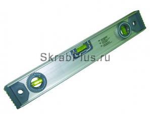 Уровень строительный 800 мм 3 глазка, линейка, угломер SKRAB 40482 купить оптом в СПб