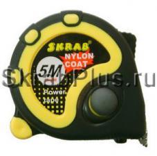 Рулетка 5мх19мм измерительная 3 стопа, нейлон, магнит SKRAB 40133 купить оптом в СПб