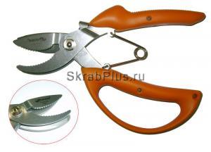 Секатор садовый 196 мм с механизмом захвата нержавеющая сталь SKRAB 28170 купить оптом в СПб