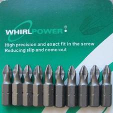 Биты PH2x25мм магнитные 10 шт WhirlPower 43662