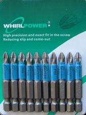 Биты PH2x90 мм магнитные 10 шт WhirlPower 43669