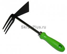 Тяпка садовая с рыхлителем 250 мм сталь HCS тефлон SKRAB 28414 купить оптом и в розницу в СПб