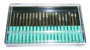 Шарошки набор 20 пр. с алмазным напылением 2,35 х 45 мм SKRAB 21128 купить оптом в СПб