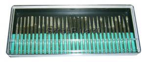 Шарошки набор 30 пр. с алмазным напылением 3 х 45 мм SKRAB 21135 купить оптом в СПб