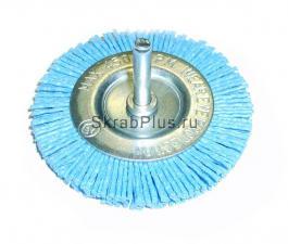 Корщетка дисковая 100*6 мм нейлоновая ZrO2 ПРОФИ для дрели SKRAB 35337 купить оптом и в розницу в СПб