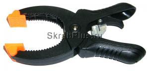 Струбцина - зажим 110*43 мм с трещоточным механизмом пластик SKRAB 25264 купить оптом и в розницу в СПб