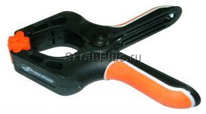 Струбцина - зажим 110*43 мм с пружинным механизмом пластик SKRAB 25267 купить оптом и в розницу в СПб