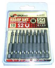 Набор бит 50 мм магнитных регулярных 10 шт. SQ 0/1/2/3 (ROBERTSON: 0, 1, 2, 3) SKRAB 43911 купить оптом и в розницу в СПб