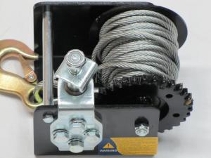 Изображение червячного механизма и барабана лебедки ручной барабанной червячной 700 кг трос 6 м JUN KAUNG WC06-915А SKRAB 26456