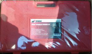 """Оригинальное фото набора торцевых головок 19 - 50 мм 3/4"""" 21 шт для авто в чемодане (кейсе) SKRAB 44321"""