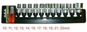 Набор торцевых головок 10 - 22 мм 11 шт 1/2 SKRAB 44472