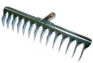 Грабли витые 14 зубьев из нержавеющей стали без черенка SKRAB 28067