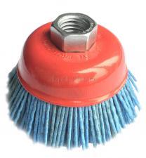 Корщетка-чашка 100 мм нейлоновая для УШМ (болгарки) оксид циркония (ZrO2) ПРОФИ SKRAB 35487