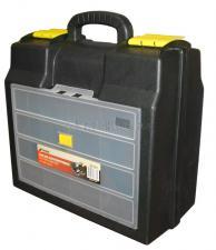 Ящик для УШМ 16 (410*385*190 мм) с двумя пластиковыми замками MJ-3017 SKRAB 27731