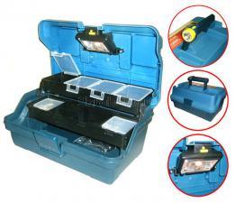 Ящик рыболова с фонарем и подсветкой 13 (315*195*160 мм) SKRAB 27598