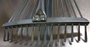 Оригинальное фото зубьев граблей веерных раздвижных 15 зубьев из нержавеющей стали резиновая ручка TS1048F SKRAB 28063