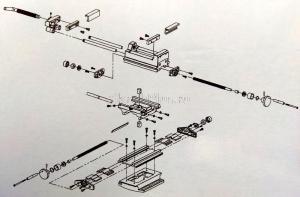 Взрыв-схема тисков Тиски двухкоординатных (крестовинных) SKRAB 25503