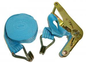 Ремень стяжной 6 м * 1,5, 2500 кг с храповиком и крюками SKRAB 26591