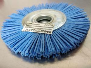 Корщетка-колесо 125 мм нейлоновая дисковая для УШМ (болгарки) оксид циркония (ZrO2) ПРОФИ SKRAB 35478 - оригинальное фото