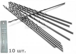 Сверло по металлу 1,5*45*70 мм удлиненное ц/х 10 шт. HSS Р6М5 SKRAB 33015 DIN 340 (ГОСТ 886-77)