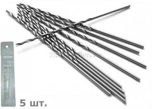 Сверло по металлу 4,3*82*126 мм удлиненное ц/х 5 шт. HSS Р6М5 SKRAB 33043 DIN 340 (ГОСТ 886-77)